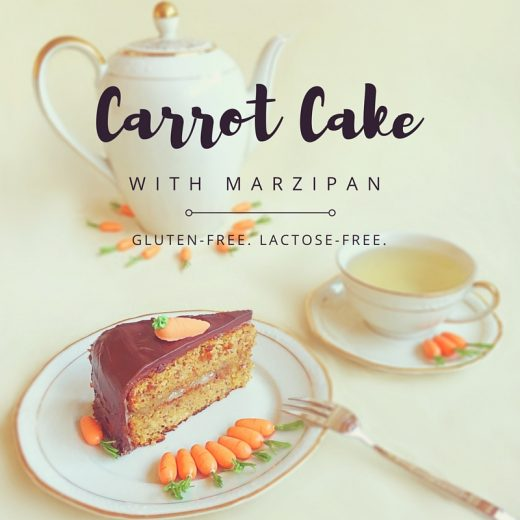 Carrot Cake with marzipan - gluten-free & lactose-free