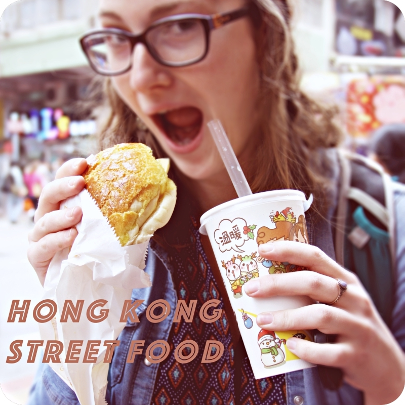 Hong Kongs Street is unique. Here I'm trying Pinapple Butter Bun and Bubble Tea!