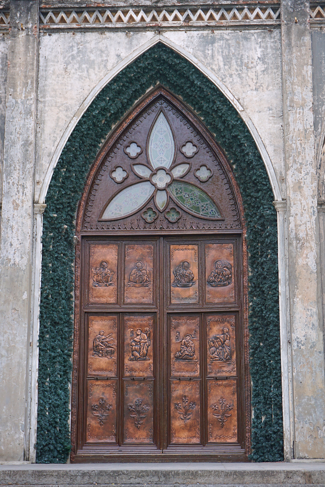 Gate/Portal of St Joseph Cathedral, Hanoi, Vietnam