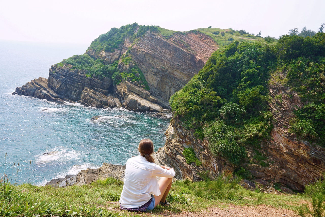 At the cliffs of Mong Rong, Co To Island, Vietnam