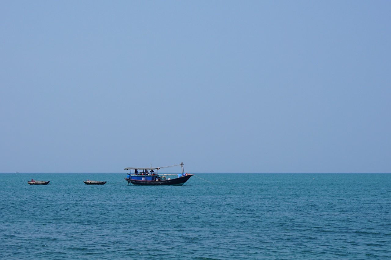 Fishing boats around Co To Island, Vietnam