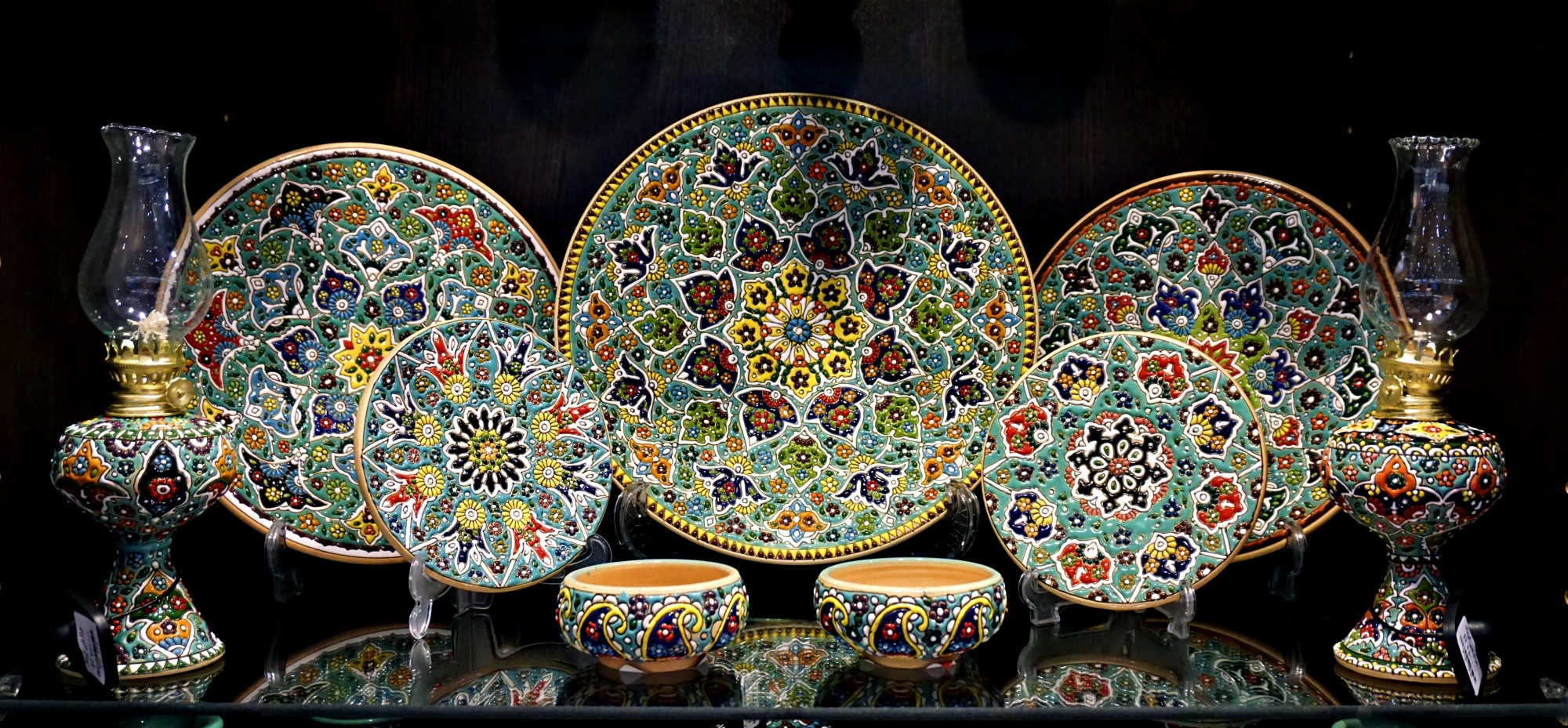 ceramics, persian, tehran, iran, flower pattern